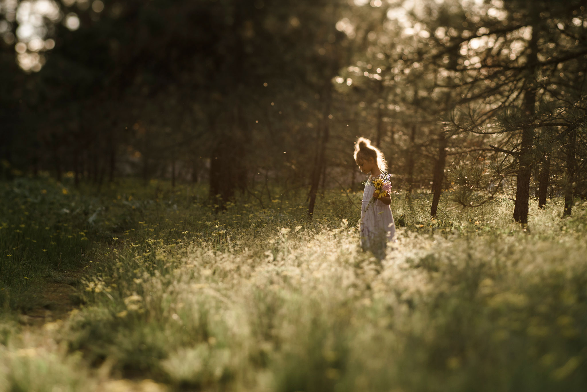 environmental portrait little girl