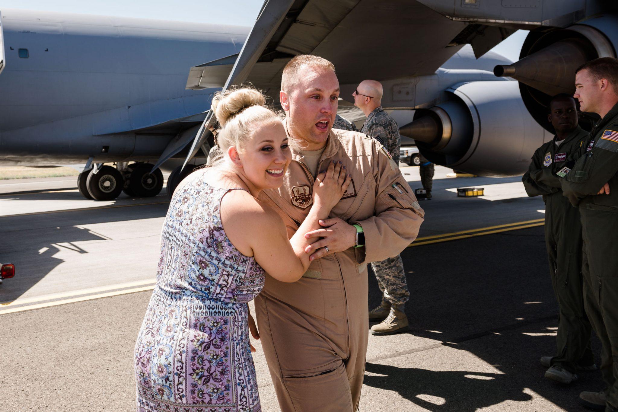 Richardson Family Homecoming   Fairchild AFB   Spokane Photographer