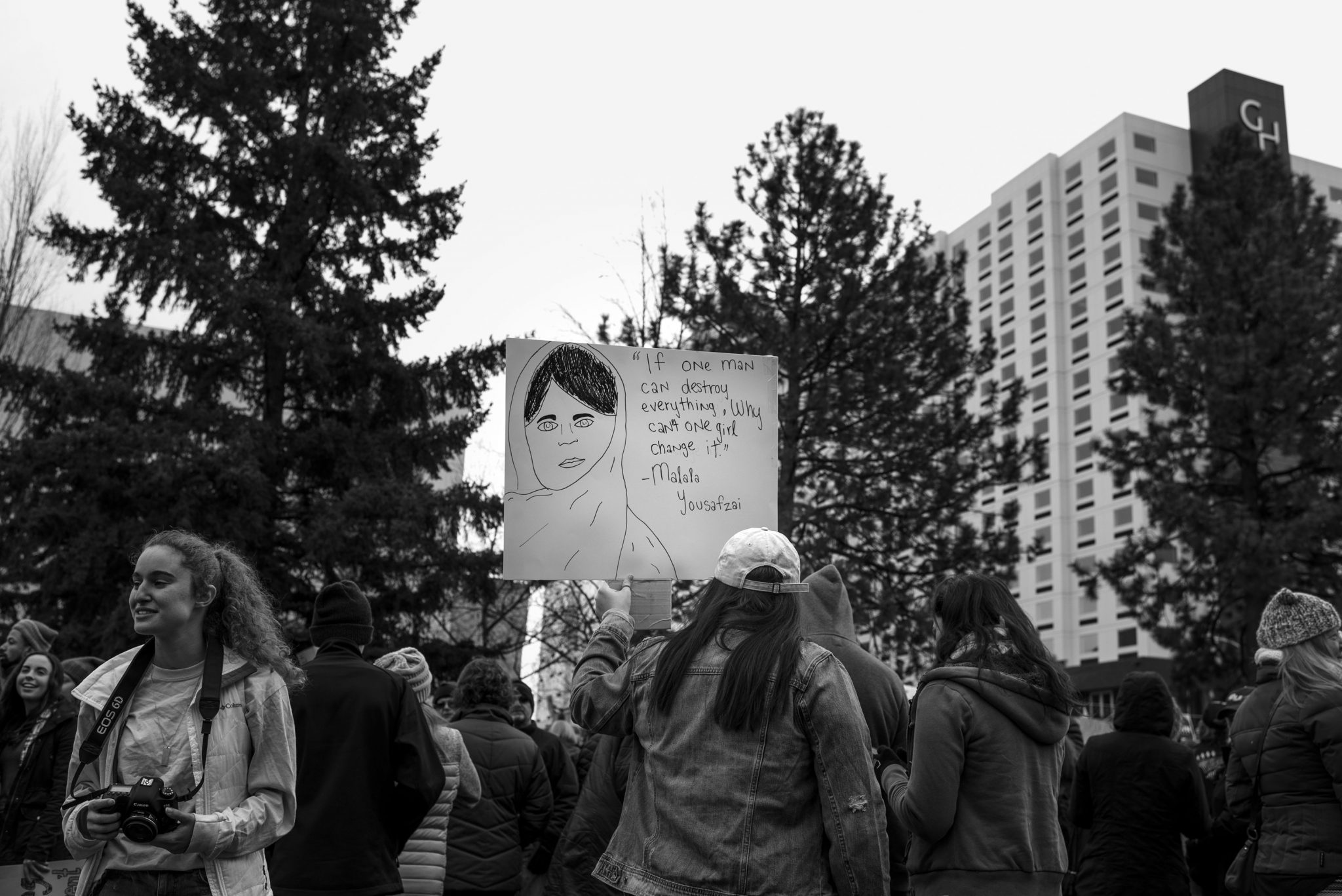 sign at the spokane march
