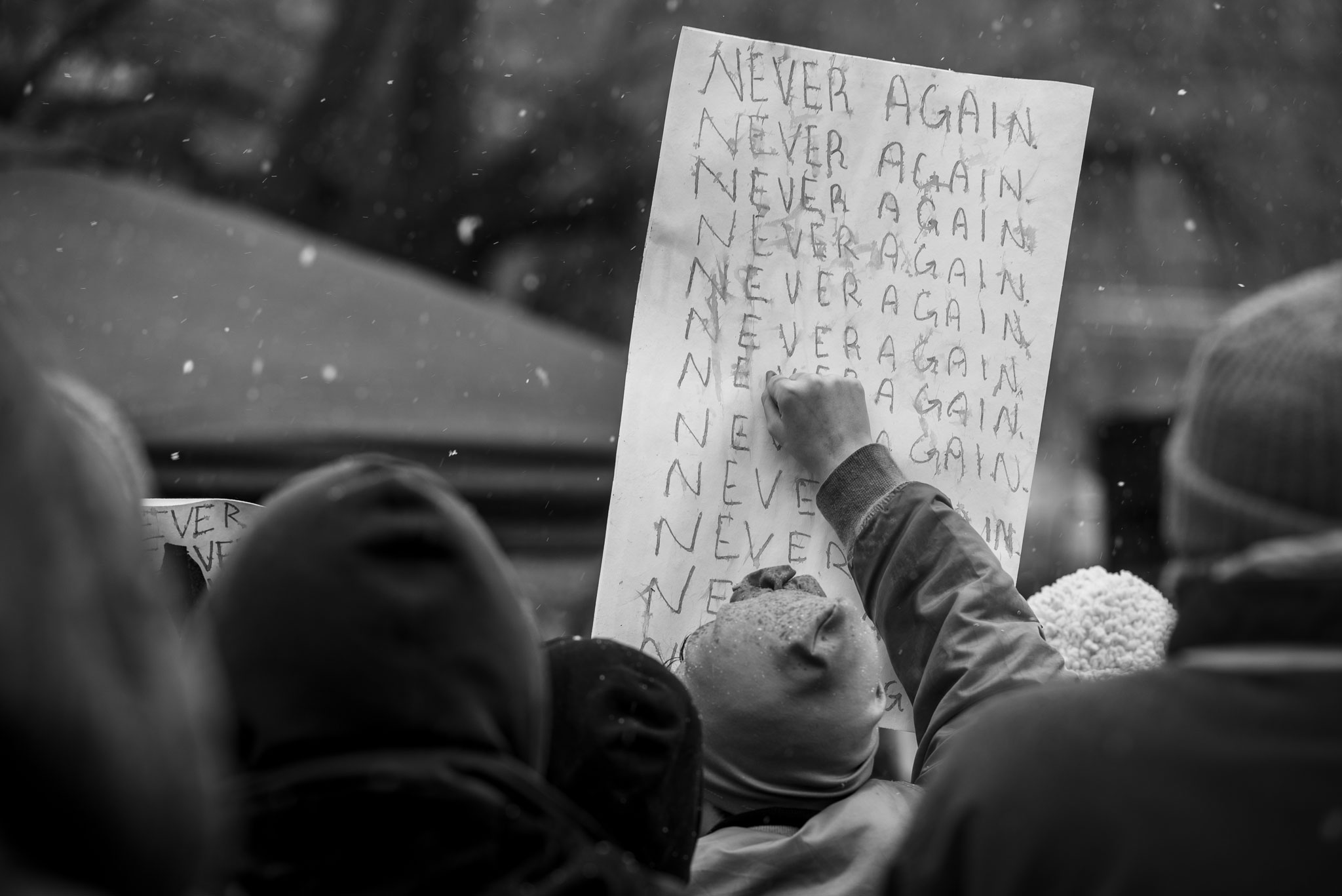 Never Again sign