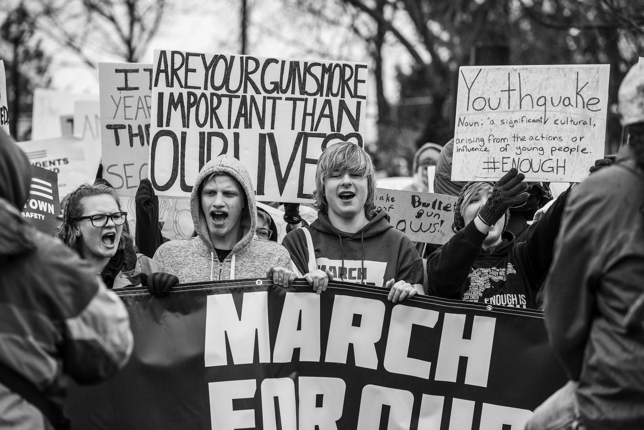March for Our Lives Spokane Protest | Spokane Documentary Photographer
