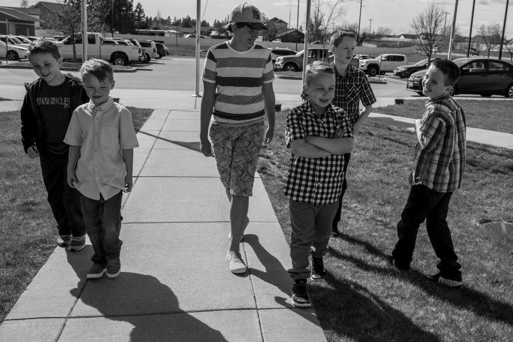 boys walking