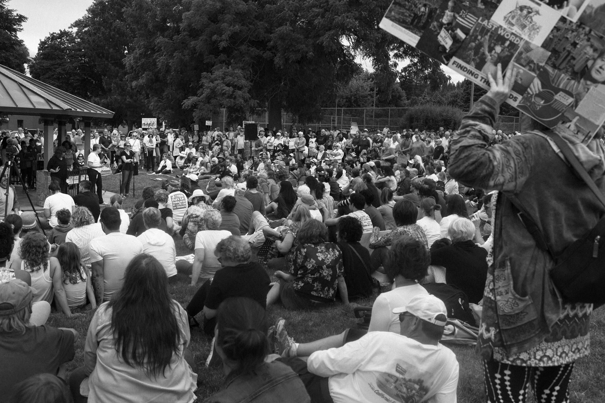 crowd watching speaker