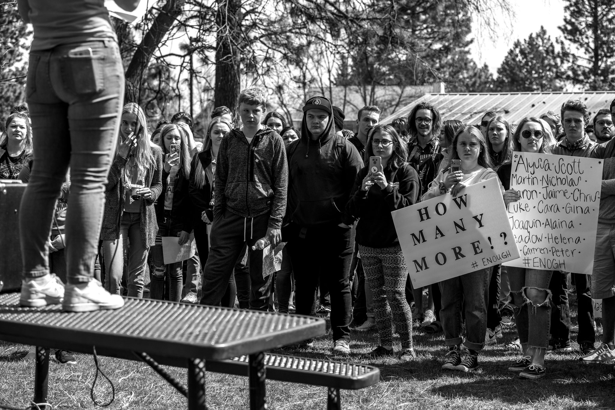 Central Valley Student speaking at walkout