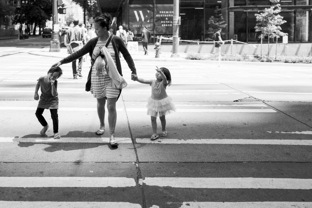 me walking kids across the street