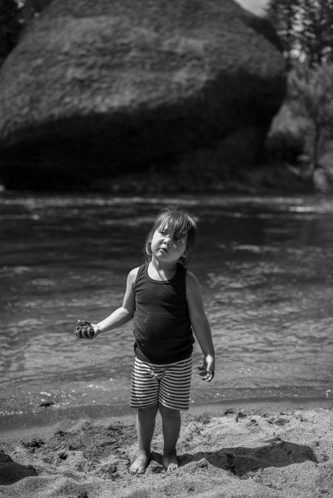 little girl by spokane river