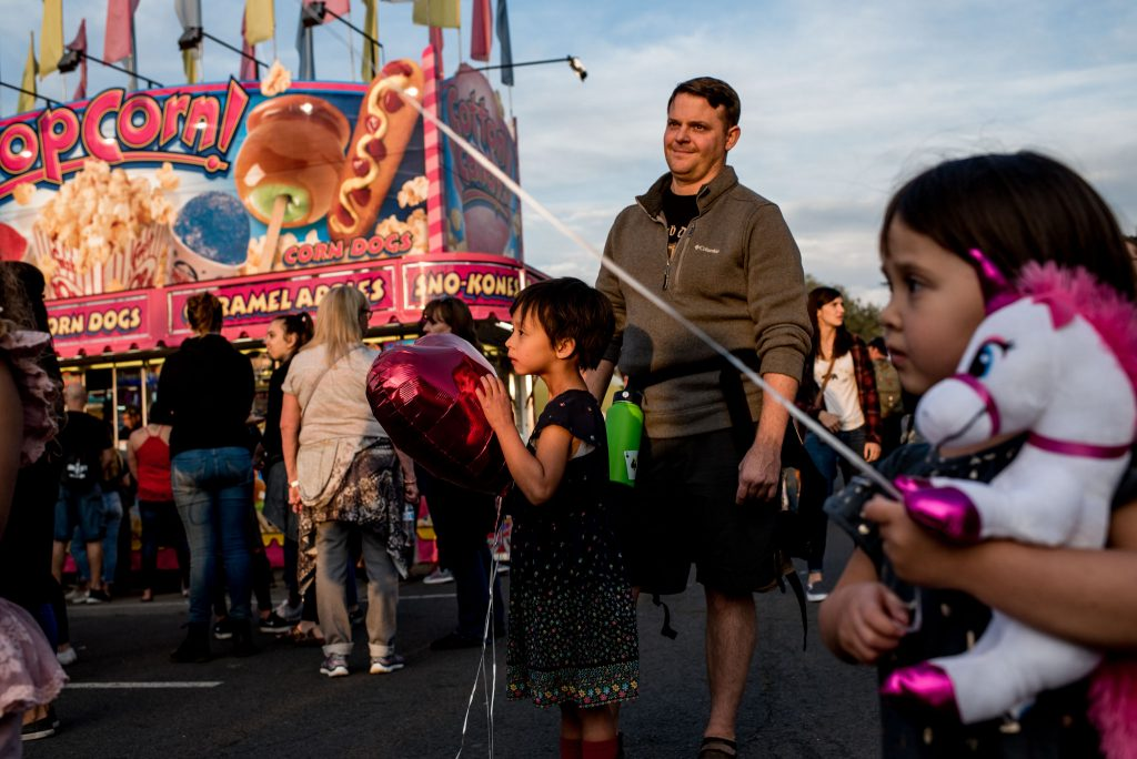 kids watching big swings