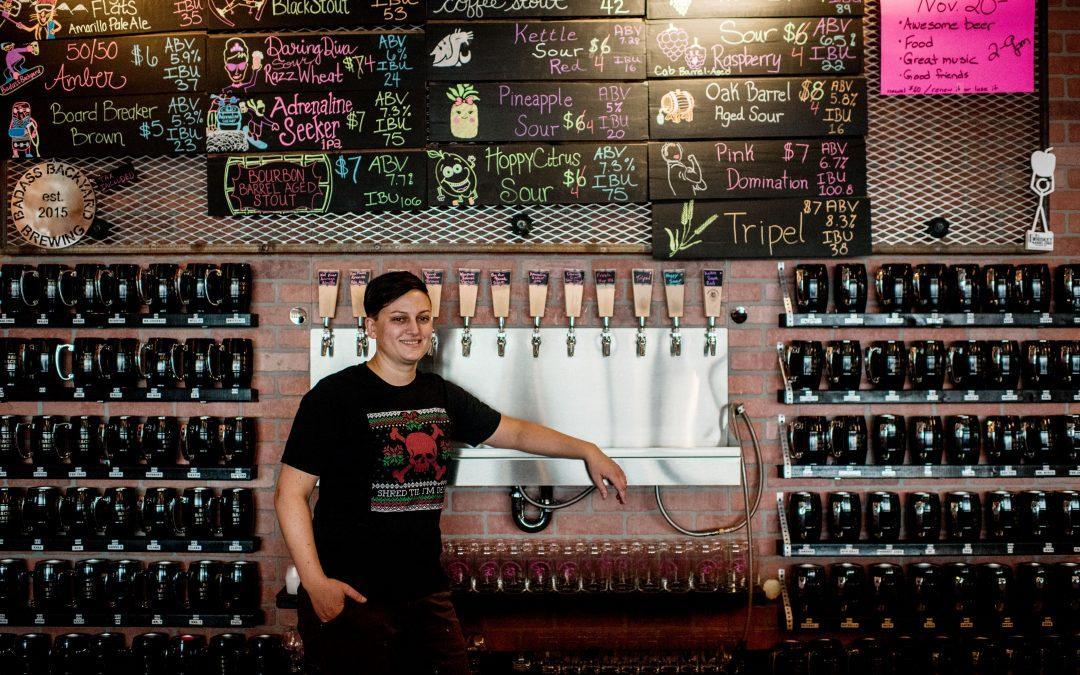 Charlene and Badass Backyard Brewing   Women Owned Spokane   Spokane Photographer