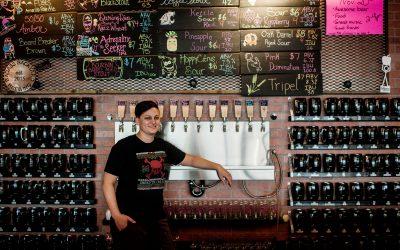Charlene and Badass Backyard Brewing | Women Owned Spokane | Spokane Photographer