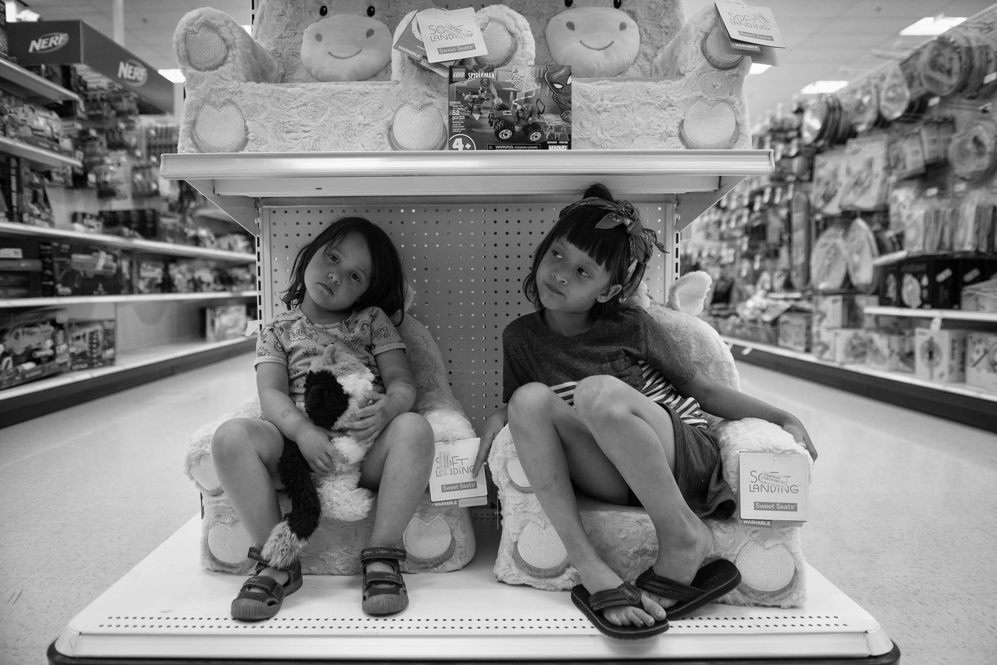 girls sitting in target