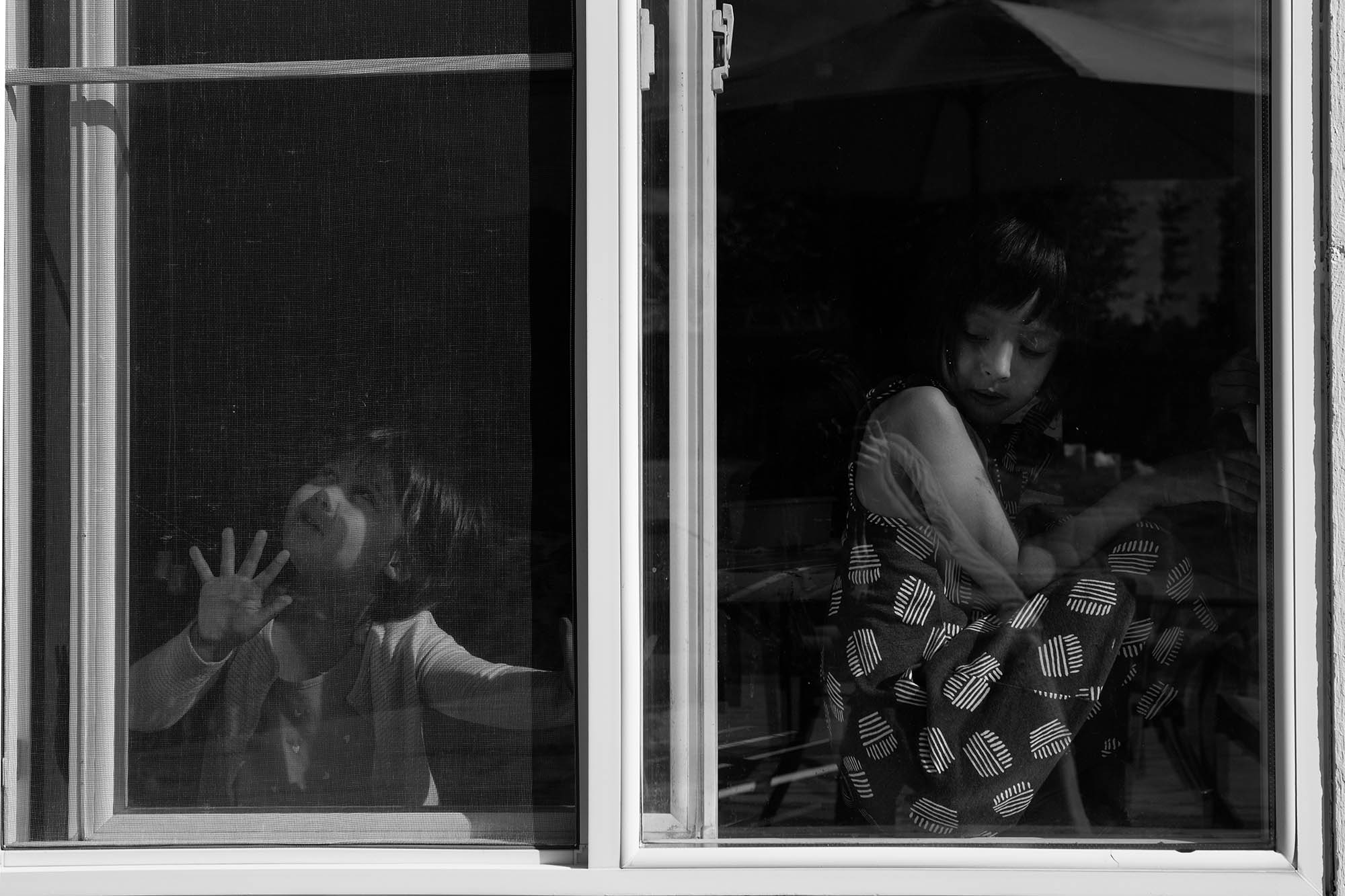 girls in window