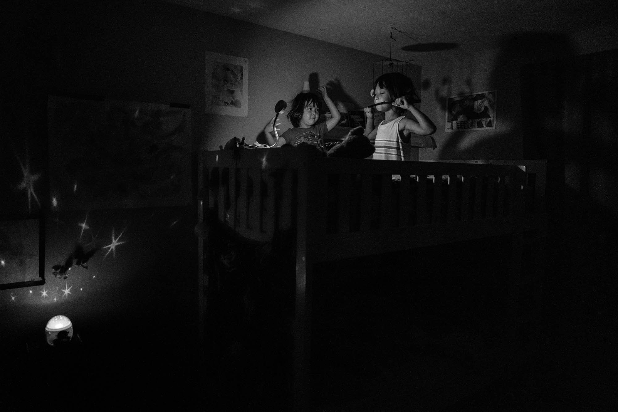 girls on bunkbed