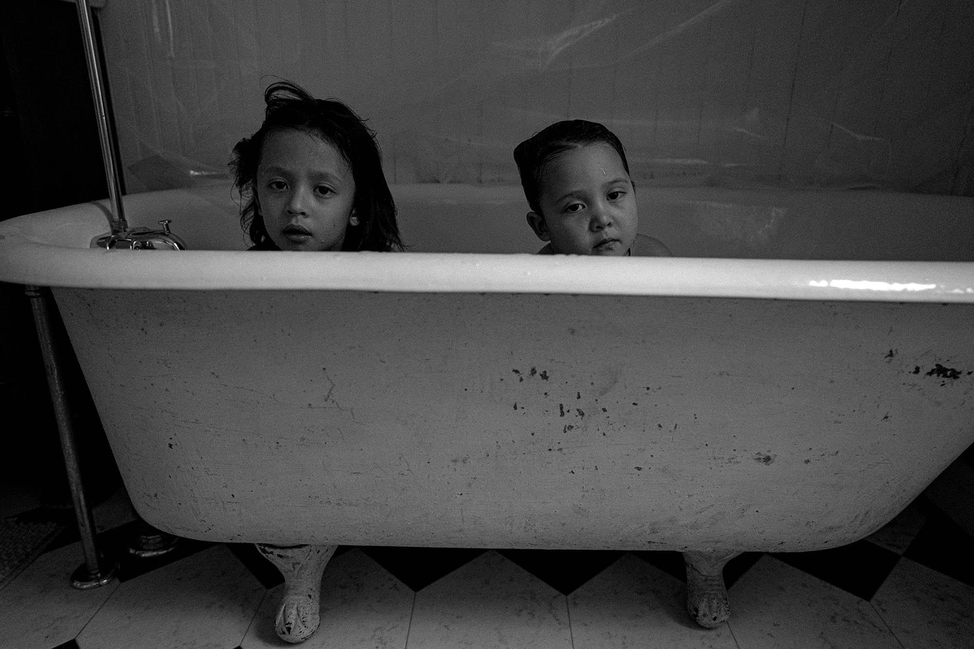 bathtub portrait