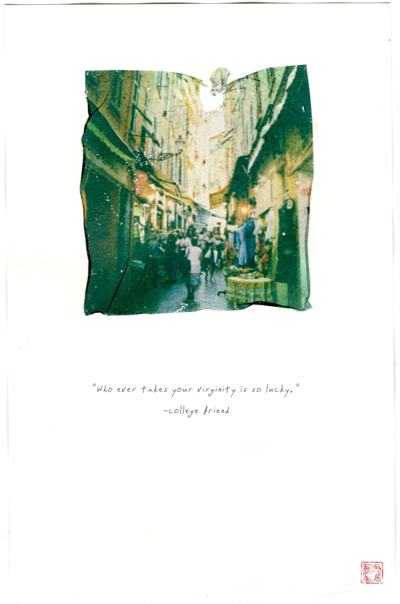 photo of city with quote about virginity