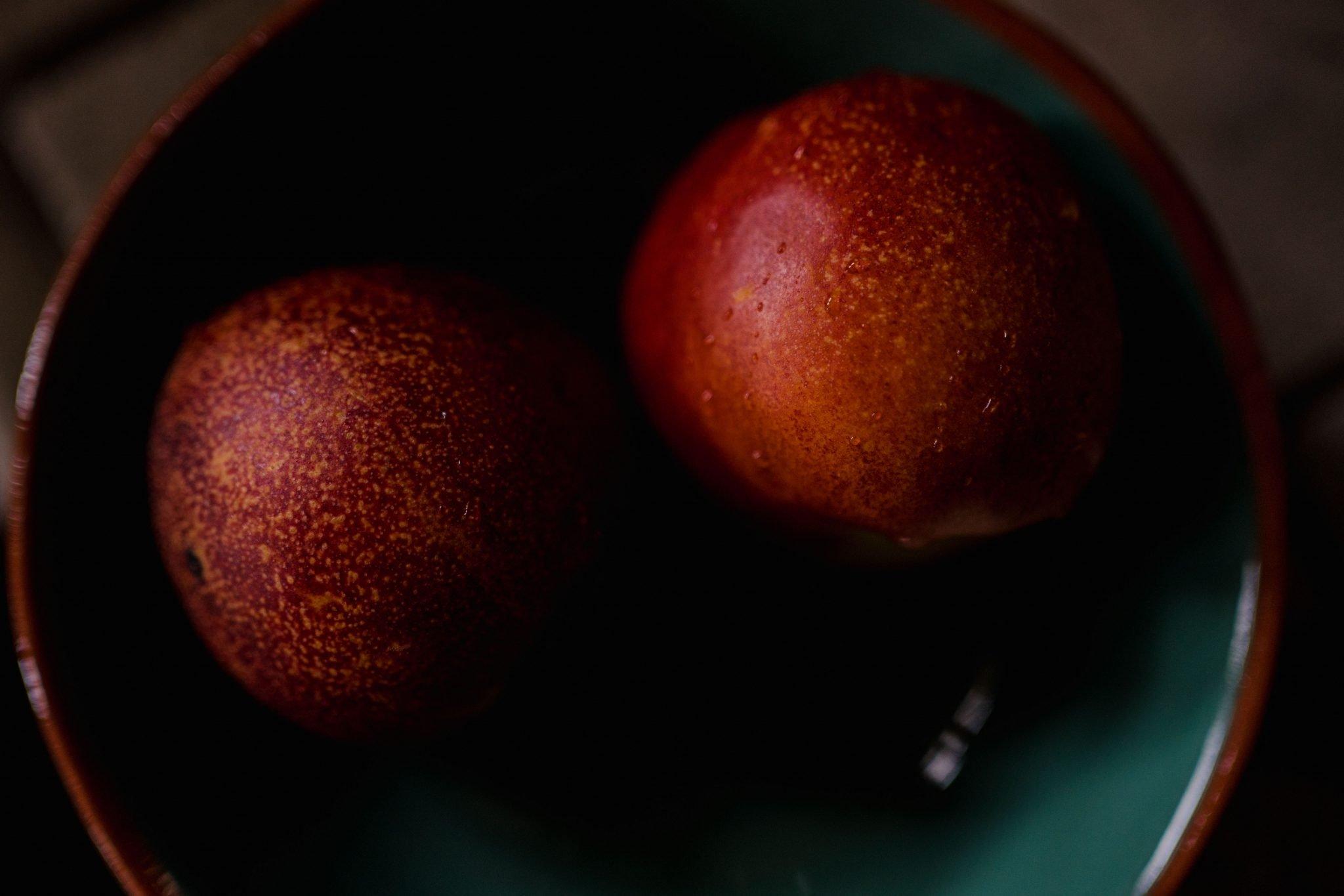 close up of nectarine