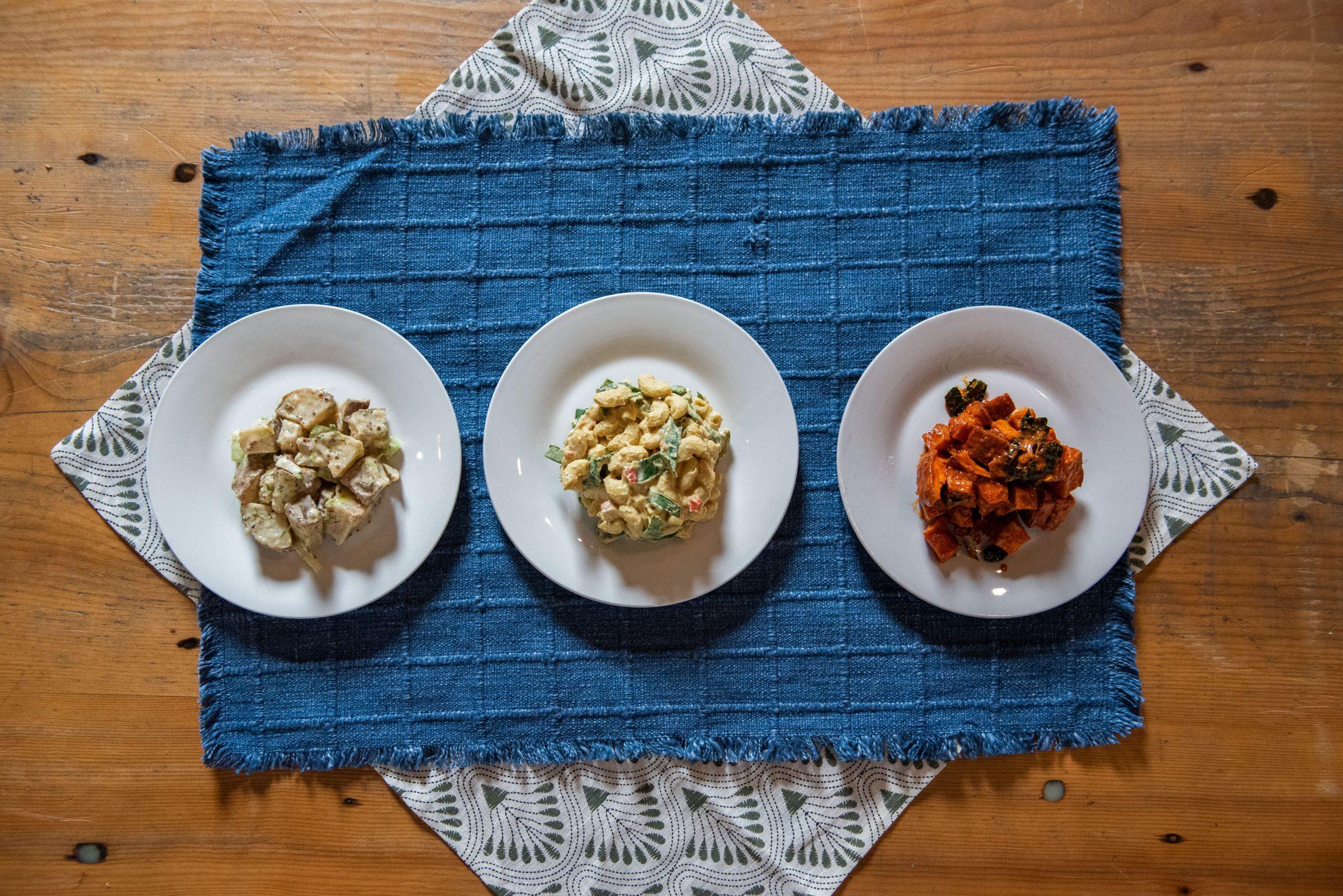 plated food on table