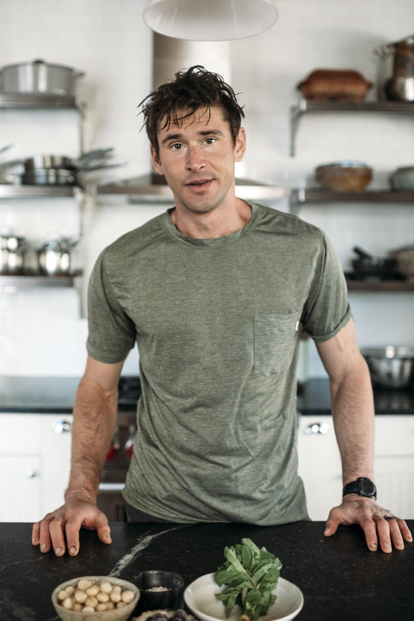 portrait of Ben Greenfield in his kitchen
