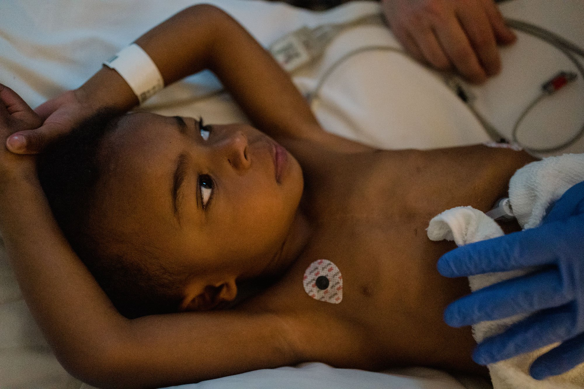 boy being examined